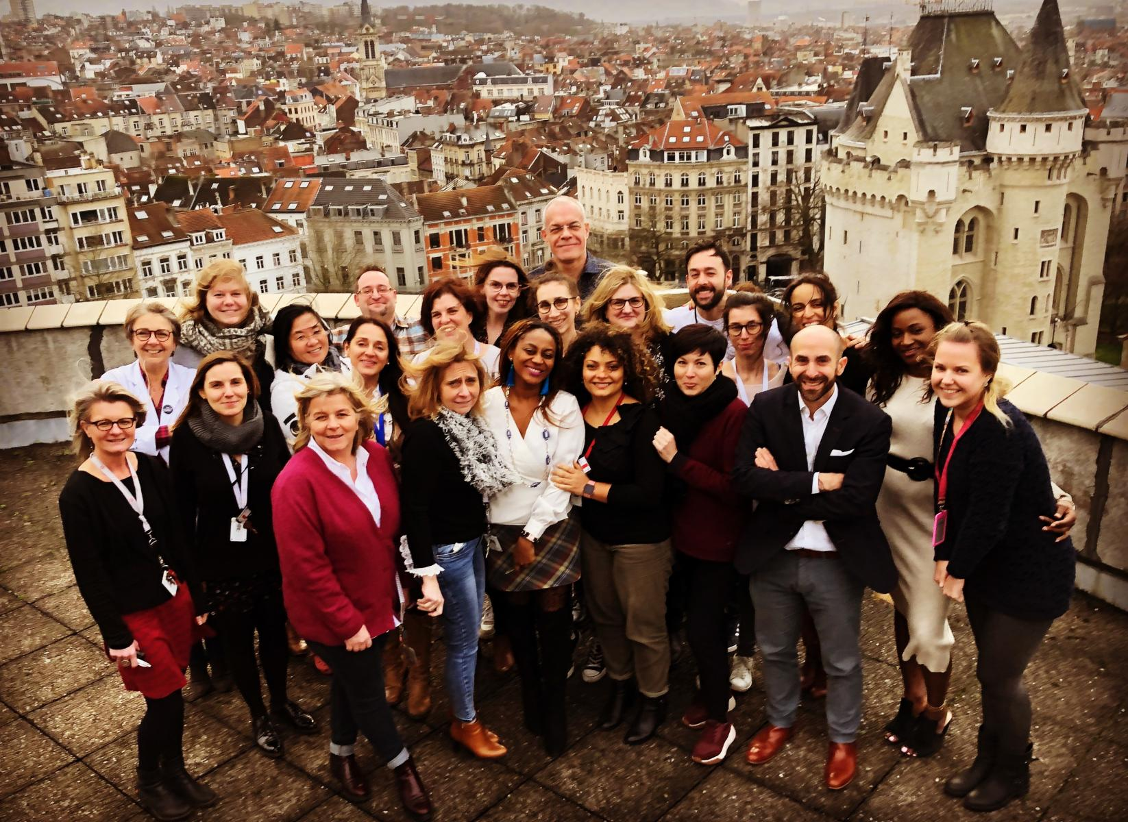 Dr. Philippe Aftimos and his clinical research team in Brussels.