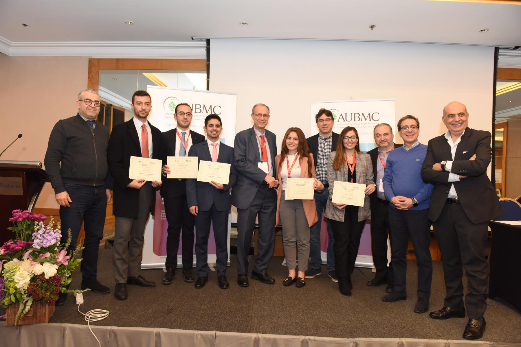 Winners of Best Abstract awards at BBCC-8 and event faculty