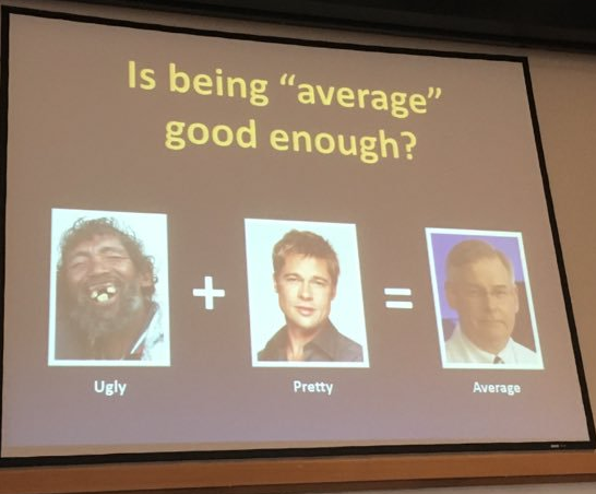 """Is Being Average Good Enough?"" Slide by Dr. David Johnson"