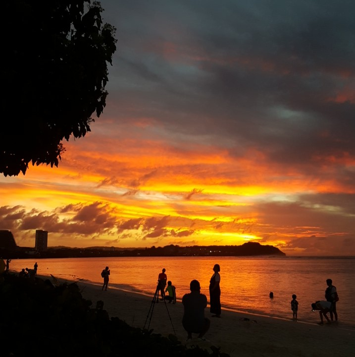 A sunset in Guam, photo by Dr. Dizon.