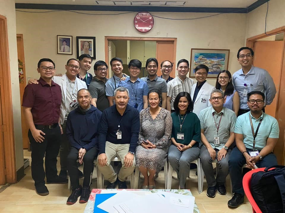 Dr. Ting with cofellows and mentors at UP-PGH