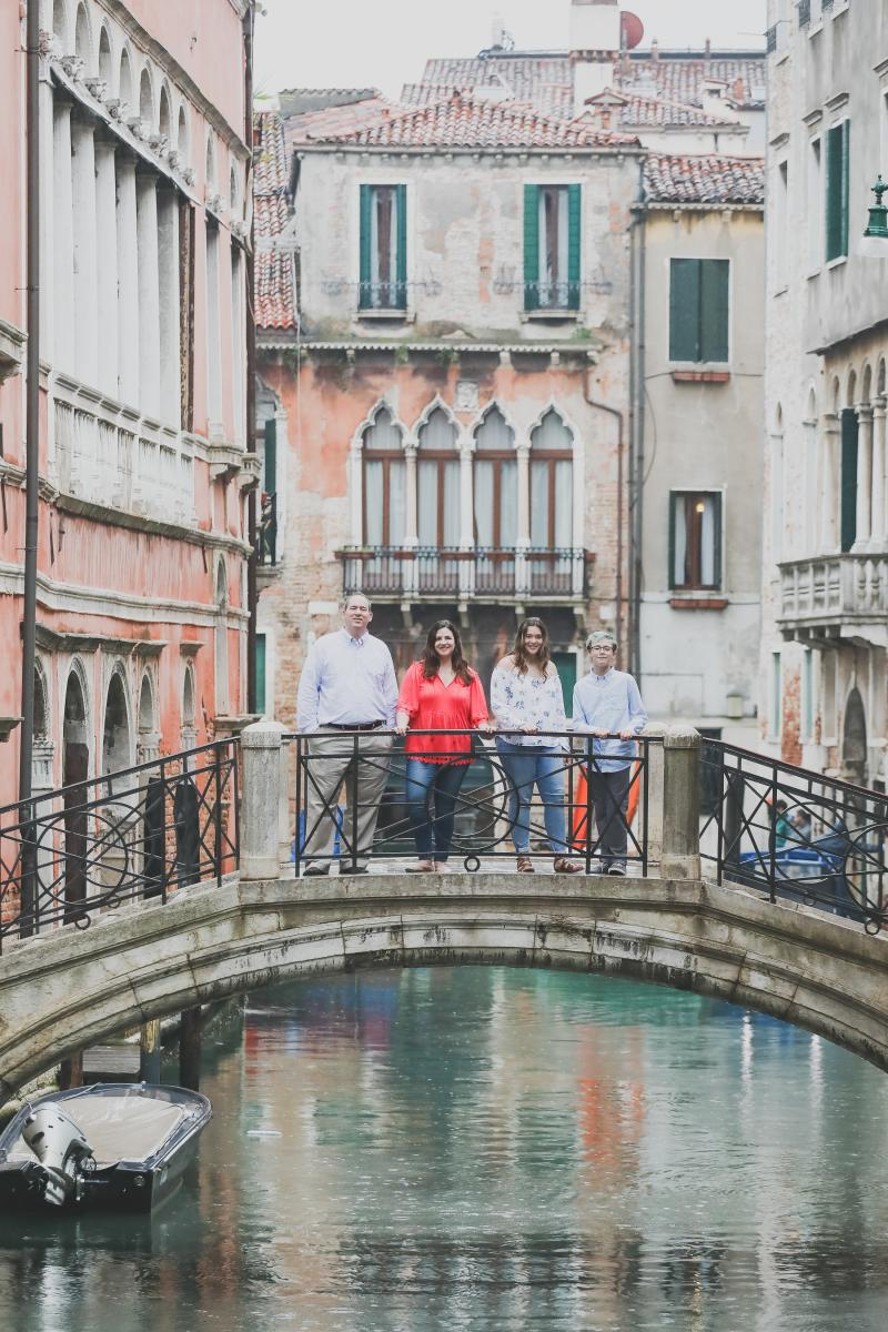 Dr. Markham and family in Venice.
