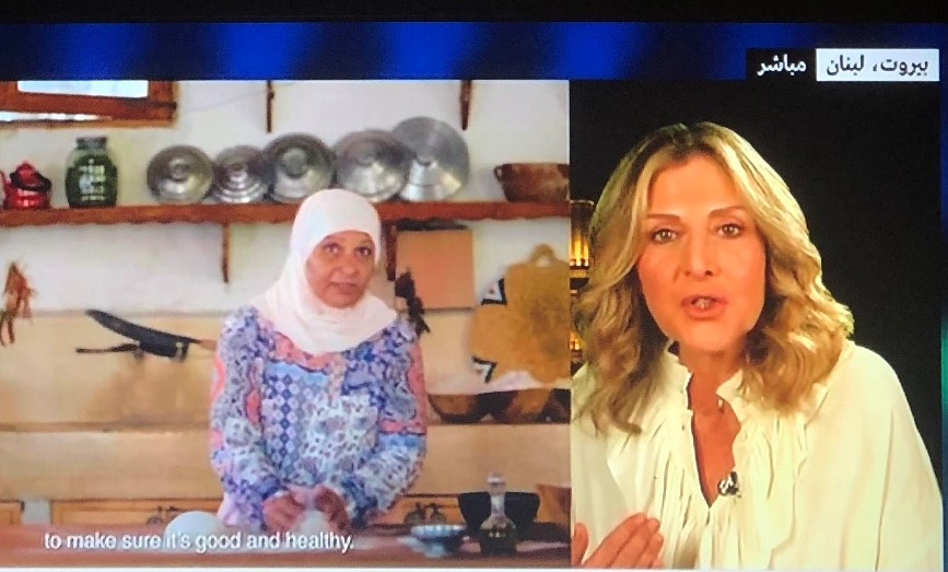 Ms. Mira Sabbah Hoballah with EM Ali in an interview on France24 satellite TV.