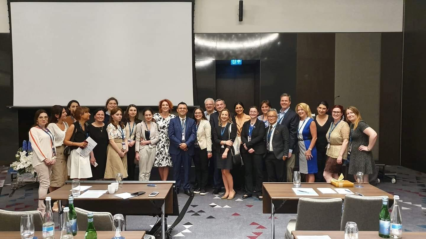 Dr. Dizon With faculty, staff, and attendees at the ASCO Multidisciplinary Cancer Management Conference in Tblisi, Republic of Georgia.