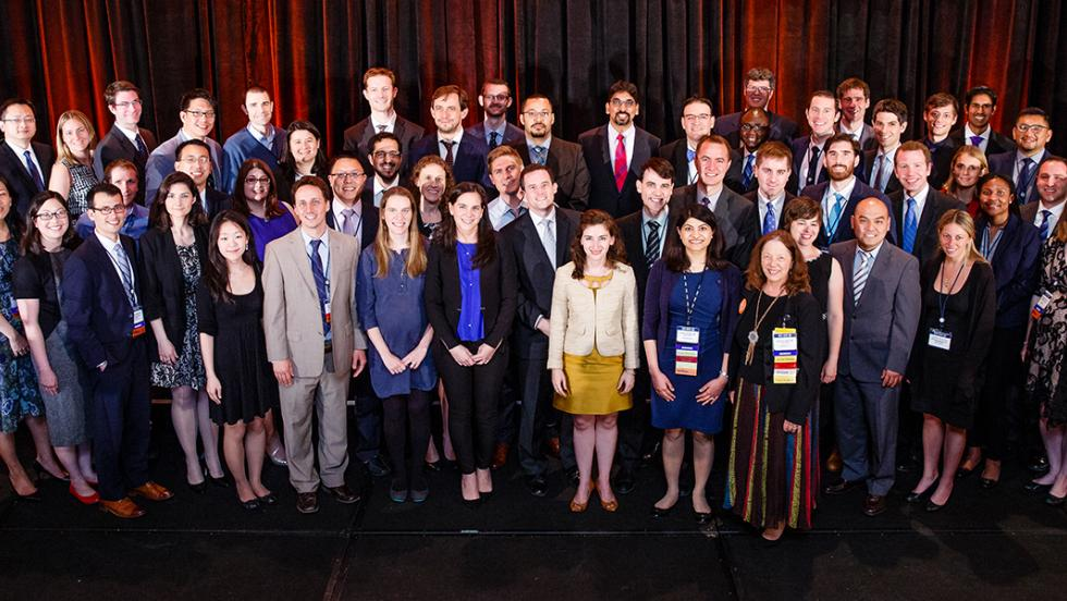 Dr. Kaur (front row, far right) is joined by YIA recipients at the 2017 ASCO Annual Meeting.