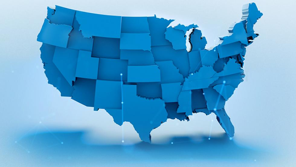 U.S. Map Stock Image