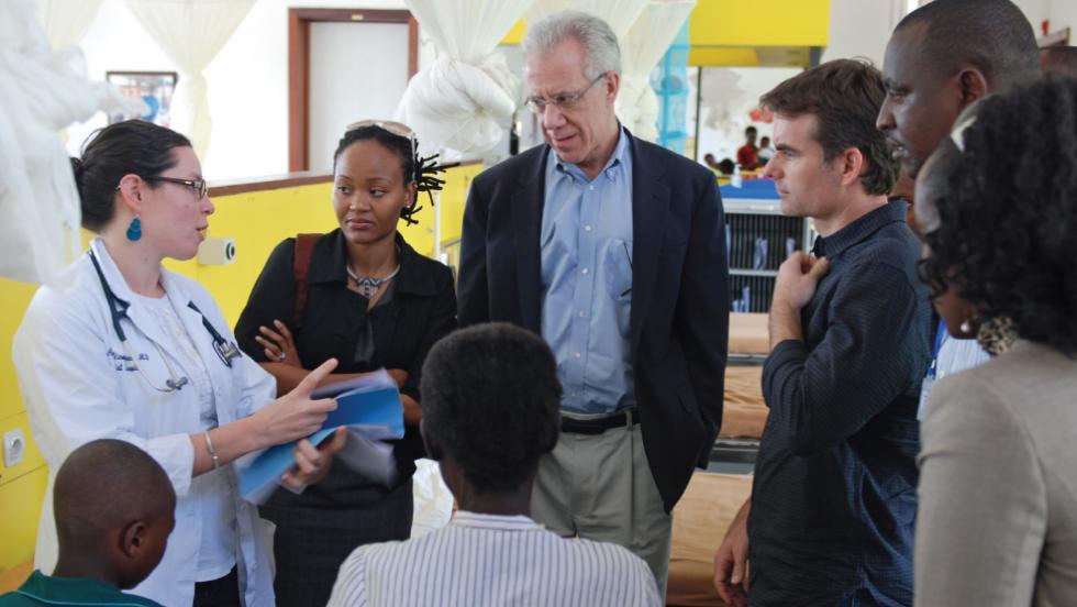 Dr. Lawrence Shulman volunteering in Rwanda