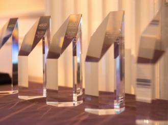 awards on display