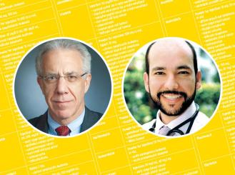 headshots of Dr. Lawrence Shulman and Dr. Gilberto Lopes 2016