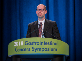 Michael J. Overman, MD, at the 2018 GI Cancers Symposium