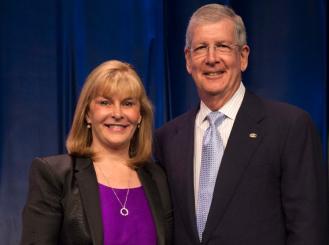 Photo of Dr. Julie Vose and Dr. Allen Lichter