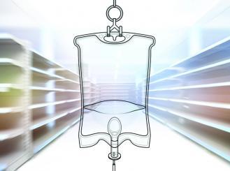 stock image of IV drip
