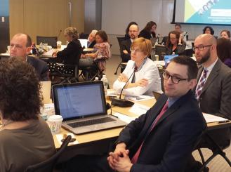 Photo of ASCO members at Roundtable on Addressing Financial Barriers to Clinical Trials Participation