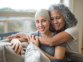Stock image of patient and caregiver