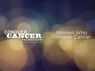 The Women Who Conquer Cancer (WWCC) Mentorship Award Logo