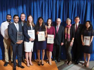 Breast Cancer Research Foundation grant recipients at the 2016 Conquer Cancer Grants and Awards Ceremony in Chicago, IL.