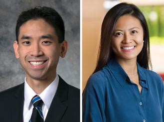 Headshots of Dr. Alexander Chin and Dr. Joanna Yang