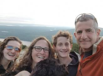 Dr. Plimack and her family at Acadia National Park in Maine.