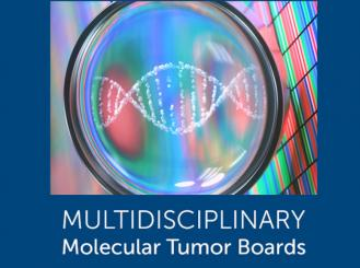 Multidisciplinary Molecular Tumor Boards logo and DNA image