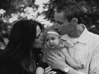Brandon Gromada and his family