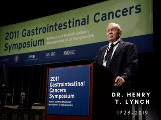 Dr. Henry T. Lynch gives the Keynote Lecture at the 2011 Gastrointestinal Cancers Symposium.