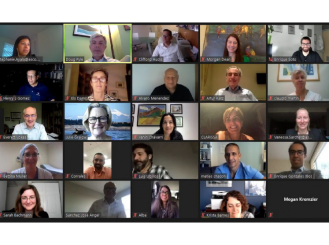 Latin America Regional Council representatives on a Zoom call