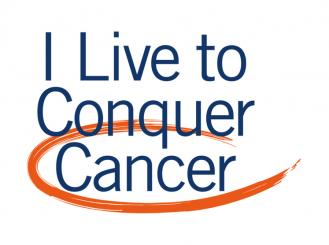 I Live to Conquer Cancer logo