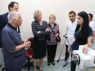 Members tour the NCO radiotherapy department