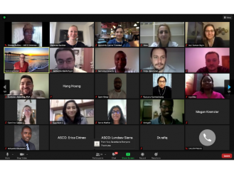 2020 IDEA participants meet virtually with ASCO staff.