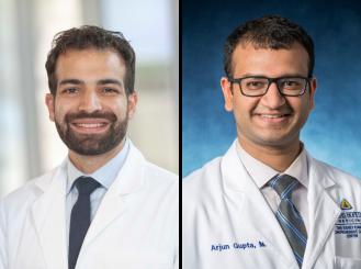 Dr. Ramy Sedhom and Dr. Arjun Gupta headshots