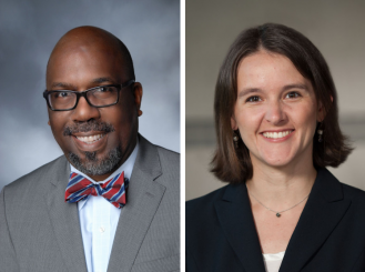 headshots of Dr. Reginald Tucker-Seeley and Dr. Katherine Hicks-Courant