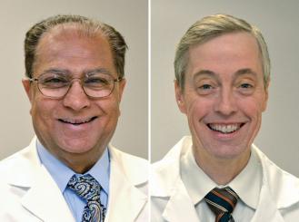 Drs. Bahu Shaikh and Rex Mowat