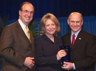 Larry Norton, Ellen Stoval, Charles Balch group photo