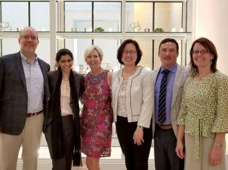 Dr. Eckhardt (third from left) with mentees from the ASCO Leadership Development Program and ASCO staff.