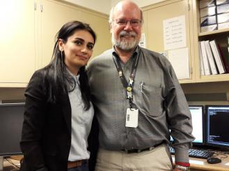 Photo of Dr. Talibova with Dr. Gregory Otterson at The Ohio State University Wexner Medical Center