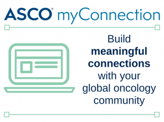 ASCO myConnection logo: Building meaningful connections with the global oncology community
