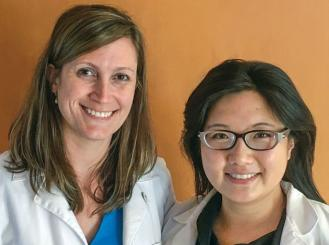 Photo of Dr. Gatti-Mays and Dr. Gao