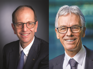 Composite image of Dr. George D. Demetri and Dr. Jaap Verweij