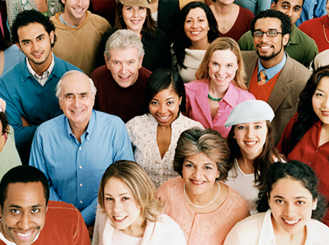 Photo of people from different racial and ethnic backgrounds