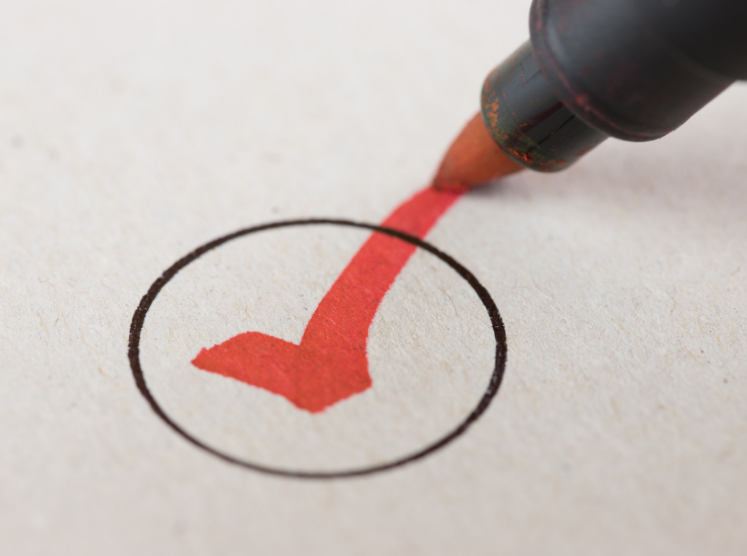 Stock image of a vote