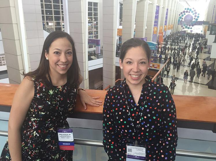 Dr. Maria Teresa Bourlon and Dr. Christianne Bourlon at the 2016 ASCO Annual Meeting.