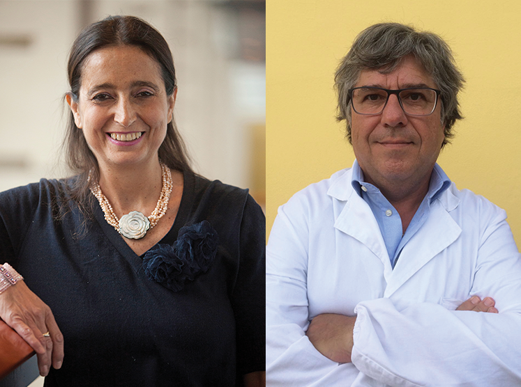Composite image of Dr. Antonella Surbone and Dr. Paolo Tralongo