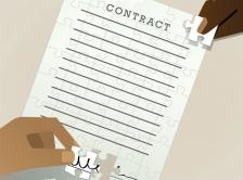 illustration of a contract being signed