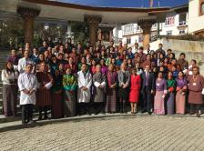 Faculty and attendees at Cancer Control in Primary Care Course in Bhutan.