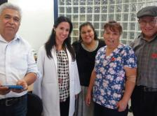 Dr. Chávarri-Guerra with Lily and members of Lily's family in Mexico City