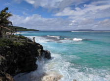 photo of the cliffside and ocean on the CNMI