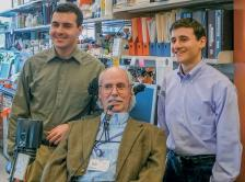 Dr. Eugene Shenderov with his brother, Dr. Kevin Shenderov, and their mentor, Dr. Alan Houghton.