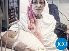 older woman receiving chemotherapy