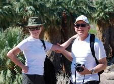 Dr. Laurie and David Gaspar hiking