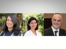 Mona Hassan, Deborah Mukherji, and Ali Taher headshots